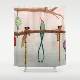 Evening Chat Shower Curtain