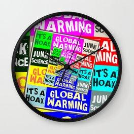 Global Warming Hoax Wall Clock