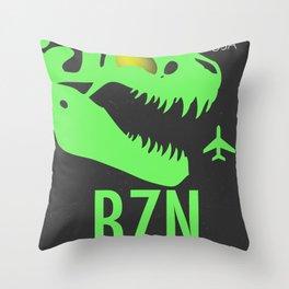 BZN Bozeman Yellowstone airport code Throw Pillow