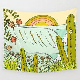 where nature and waves bloom art by surfy birdy Wall Tapestry