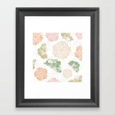 Ginkgo Floral Framed Art Print