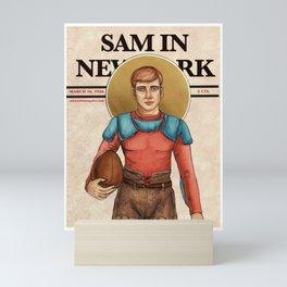 The Football Player Mini Art Print