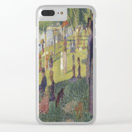 Georges Seurat's A Sunday Afternoon on the Island of La Grande Jatte Clear iPhone Case