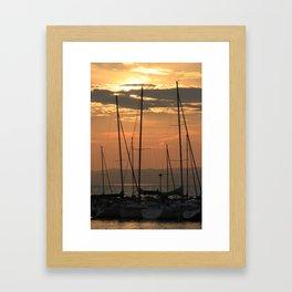 Resting boats Framed Art Print