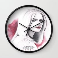 coven Wall Clocks featuring Cordelia Foxx art design by Dominique's photos