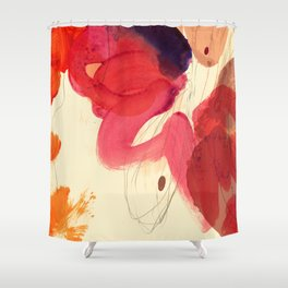 gestural abstraction 01 Shower Curtain