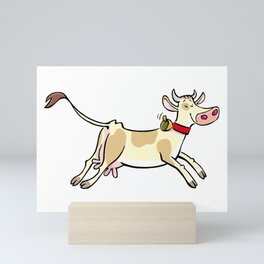 Happy Cow Mini Art Print