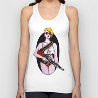 anarchy Tank Tops featuring Anarchy by Claras Blackbook