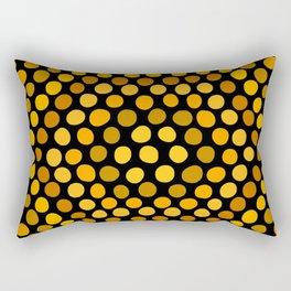 Honeycomb Ombre Dots Pattern Rectangular Pillow