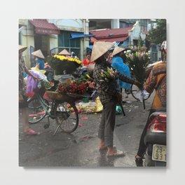 Vietnamese Vendors Metal Print