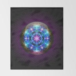 Fibonacci Flower Mandala Throw Blanket