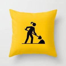 Workwoman Throw Pillow