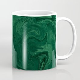 Modern Cotemporary Emerald Green Abstract Coffee Mug