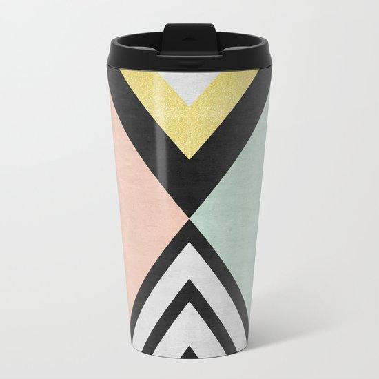 Minimalist fashion and golden I Metal Travel Mug