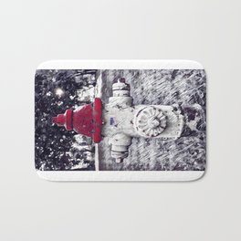 Red Cap Bath Mat