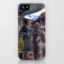 DE - Baden-Wurttemberg : Fountain on the Marketplace of Ehingen iPhone Case