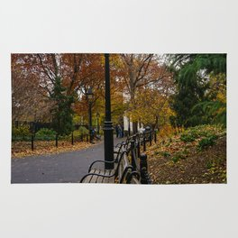NYC Benches & Trees Rug