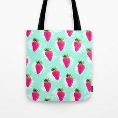 Watercolor Strawberry Tote Bag