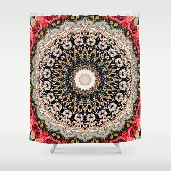 Mandala Hahusheze Shower Curtain By Elias Zacarias
