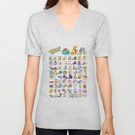 Pokémon - Gotta derp 'em all! - White edition Unisex V-Neck