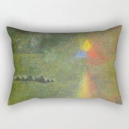 Les Origines, Rainbow and Pyramids landscape by Paul Serusier Rectangular Pillow