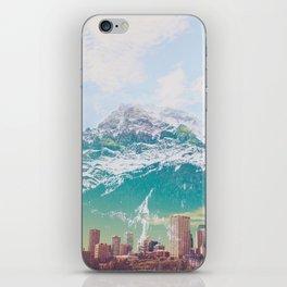aqua mountain iPhone Skin
