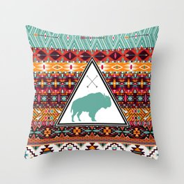 Navajo Buffalo Throw Pillow