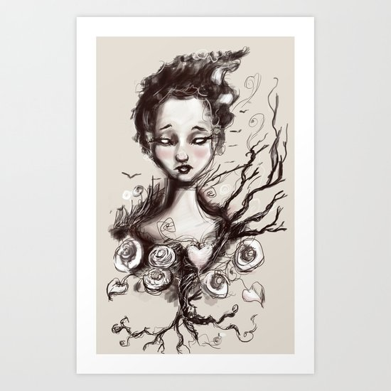 Scatter Heart Art Print
