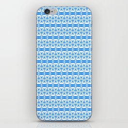 Dividers 02 in Blue over White iPhone Skin