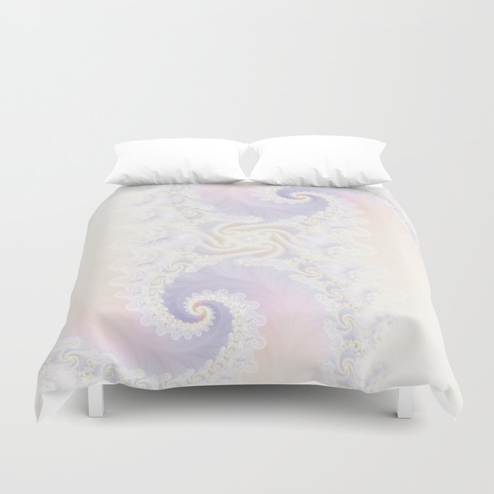 Beautiful Wedding Dress Fractal for the Princess of Pearls Duvet Cover