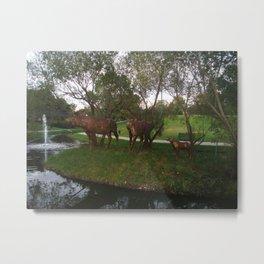 moose, crescent park, moose jaw, saskatchewan, canada Metal Print