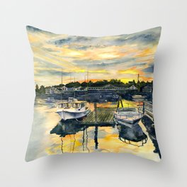 Rocktide Sunset Throw Pillow