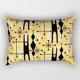 Retro Atomic Mid Century Pattern 771 Yellow Rectangular Pillow