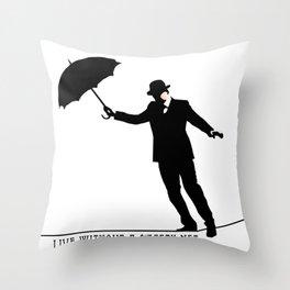 no safety net Throw Pillow