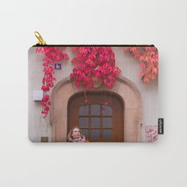 Tati matches the Autumn Carry-All Pouch