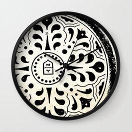 Manhole Cover 5 Wall Clock