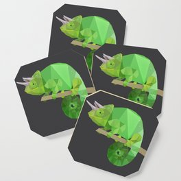 Low Poly Chameleon Coaster