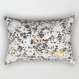 Gold Speckled Terrazzo Rectangular Pillow