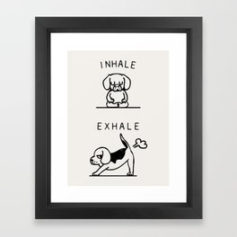 Inhale Exhale Beagle Framed Art Print
