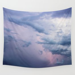 Cotton Candy Lightning Wall Tapestry