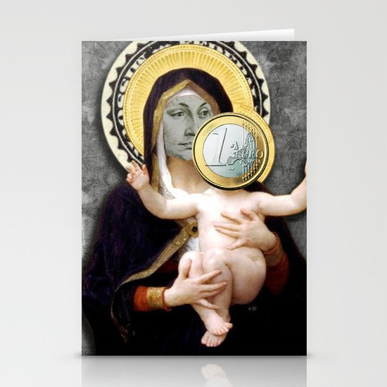 Euronna Madonna Collage Stationery Cards
