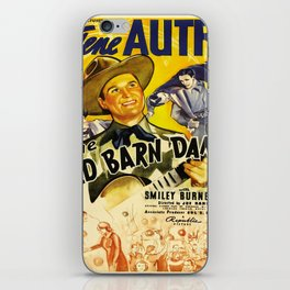 Vintage poster - The Old Barn Dance iPhone Skin
