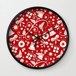 Seamless Christmas pattern Wall Clock