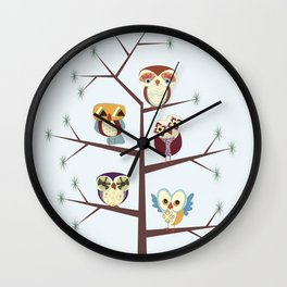 Owl Pine For You Wall Clock