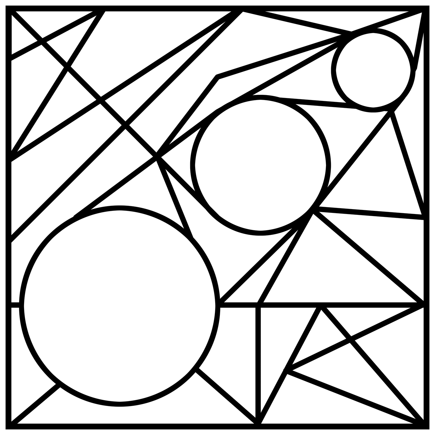 triangles & circles geometry Comforters