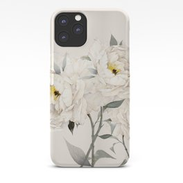 White Peonies iPhone Case