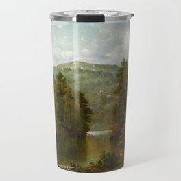 A View On Lake George 1876 By David Johnson   Reproduction   Romanticism Landscape Painter Travel Mug
