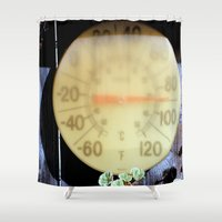 forever young Shower Curtains featuring Forever Warm If Not Young by oneofacard