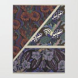 Vintage art deco pattern Poster