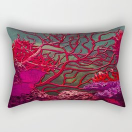 Red coral Rectangular Pillow